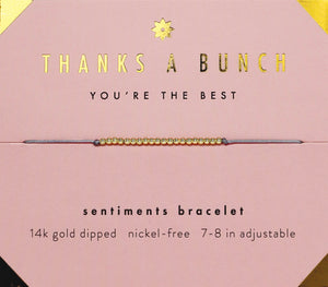Sentiment Bracelet * Thanks A Bunch - Indie Indie Bang! Bang!