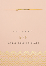 Load image into Gallery viewer, Morse Code - BFF Necklace - Indie Indie Bang! Bang!