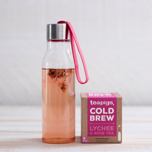 Load image into Gallery viewer, Lychee & Rose Cold Brew Tea - Indie Indie Bang! Bang!