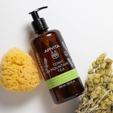 APIVITA Tonic Mountain Tea Shower Gel with Essential Oils - Indie Indie Bang! Bang!