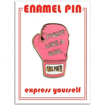 Fight Like a Girl Enamel Pin - Indie Indie Bang! Bang!