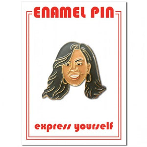 Michelle Obama Enamel Pin - Indie Indie Bang! Bang!