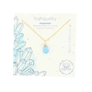 Energy Wildflower Necklace - Turquoise Tranquility - Indie Indie Bang! Bang!