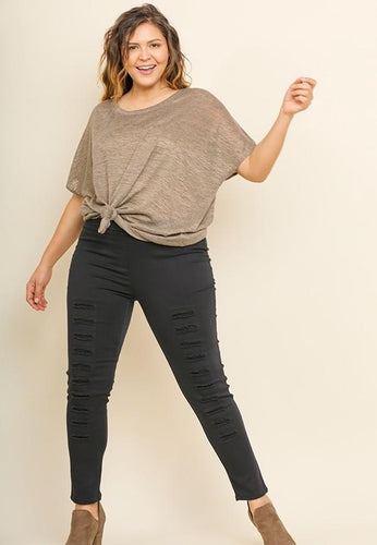 Distressed Stretch Jeggings