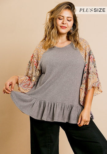 Floral Paisley Knit Top