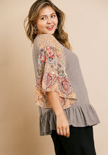 Load image into Gallery viewer, Floral Paisley Knit Top - Indie Indie Bang! Bang!