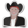 Willie Nelson Sticker - Indie Indie Bang! Bang!