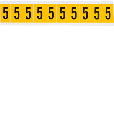 Brady 1530-5 Identical numbers and letters on one card for indoor and outdoor use 015305
