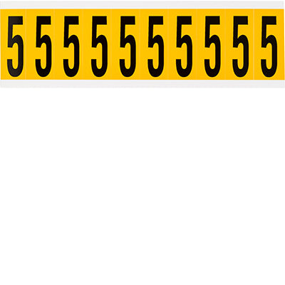 Brady 1534-5 Identical numbers and letters on one card for indoor and outdoor use 015345