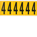 Brady 1550-4 Identical numbers and letters on one card for indoor and outdoor use 044049