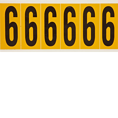 Brady 1550-6 Identical numbers and letters on one card for indoor and outdoor use 044051