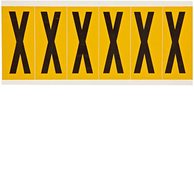 Brady 1550-X Identical numbers and letters on one card for indoor and outdoor use 044078