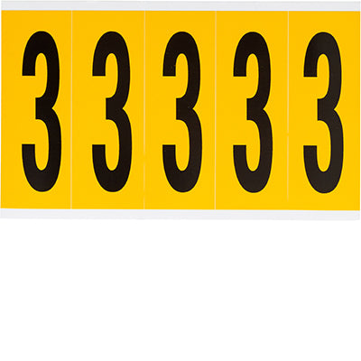Brady 1560-3 Identical numbers and letters on one card for indoor and outdoor use 097093