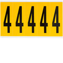 Brady 1560-4 Identical numbers and letters on one card for indoor and outdoor use 097094
