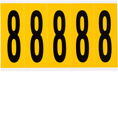 Brady 1560-8 Identical numbers and letters on one card for indoor and outdoor use 097098