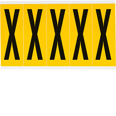 Brady 1560-X Identical numbers and letters on one card for indoor and outdoor use 097123