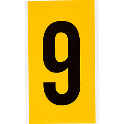 Brady 1570-9 Identical numbers and letters on one card for indoor and outdoor use 097569