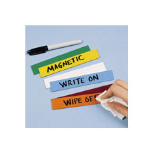 Brady BLANK MAGNETIC LABELS B-859 26X108MM Blank Write-on Magnetic Labels 234965
