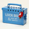Brady 13 Lock Portable  Metal Lock Box - Blue Portable Metal Group Lock Box 045190