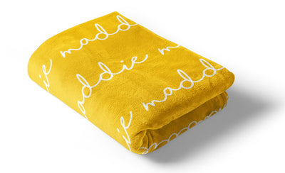 Trend Alert: Personalized Name Blankets