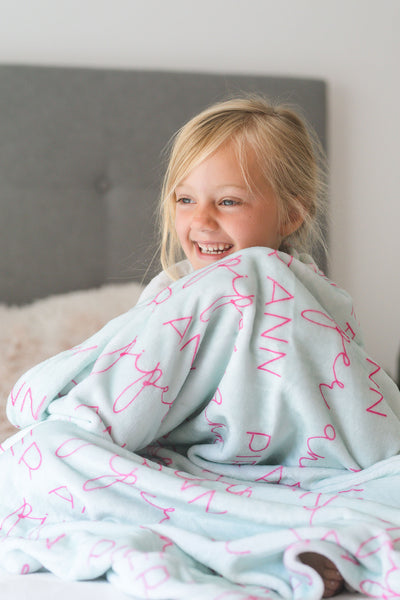 Personalized Name Blankets for Kids