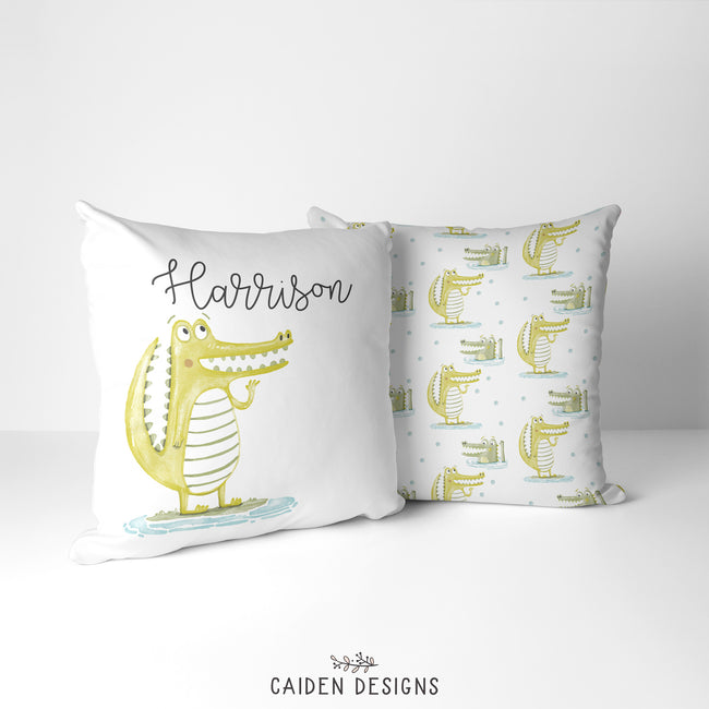 'Gator' Alligator Personalized Pillow