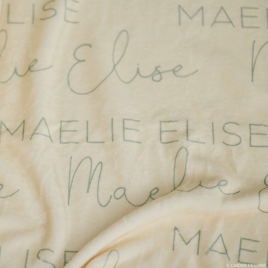Script + Block Name Personalized Blanket