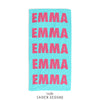Repeat Name Personalized Beach Towel