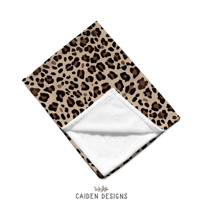 Brown Leopard Print Custom Throw Blanket