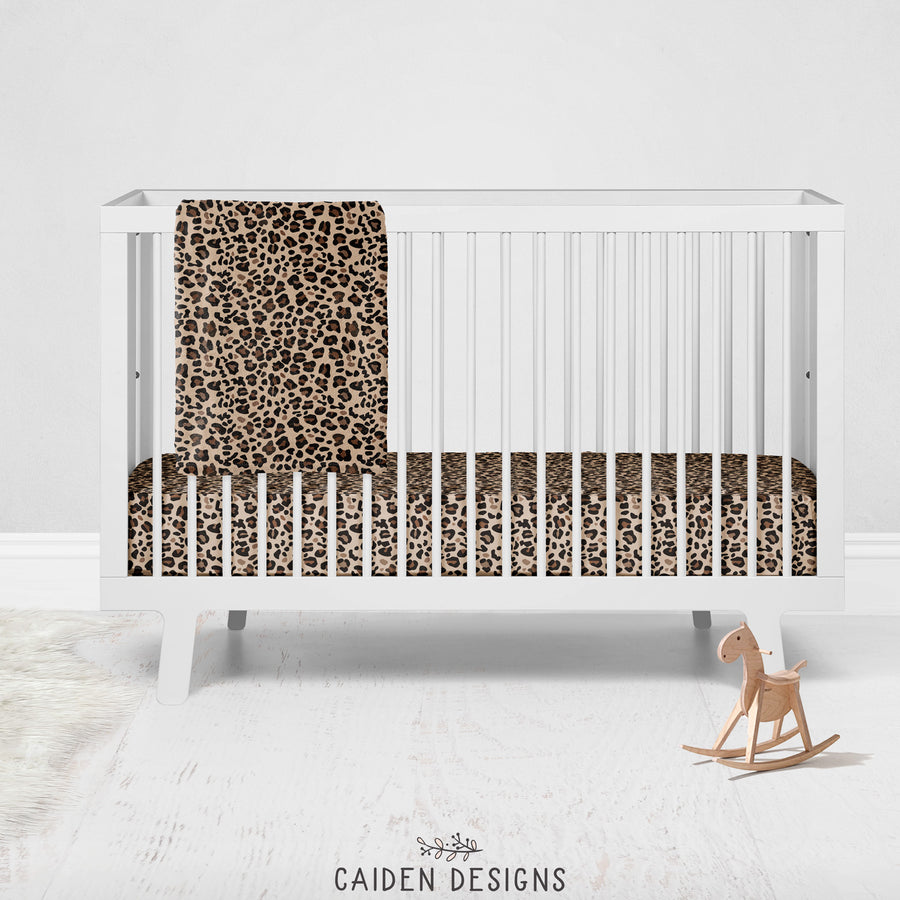 Brown Leopard Print Baby Blanket