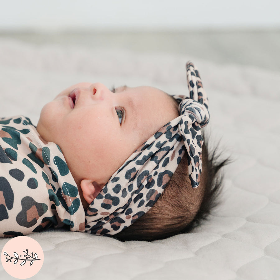Leopard Print Knotted Baby Headband
