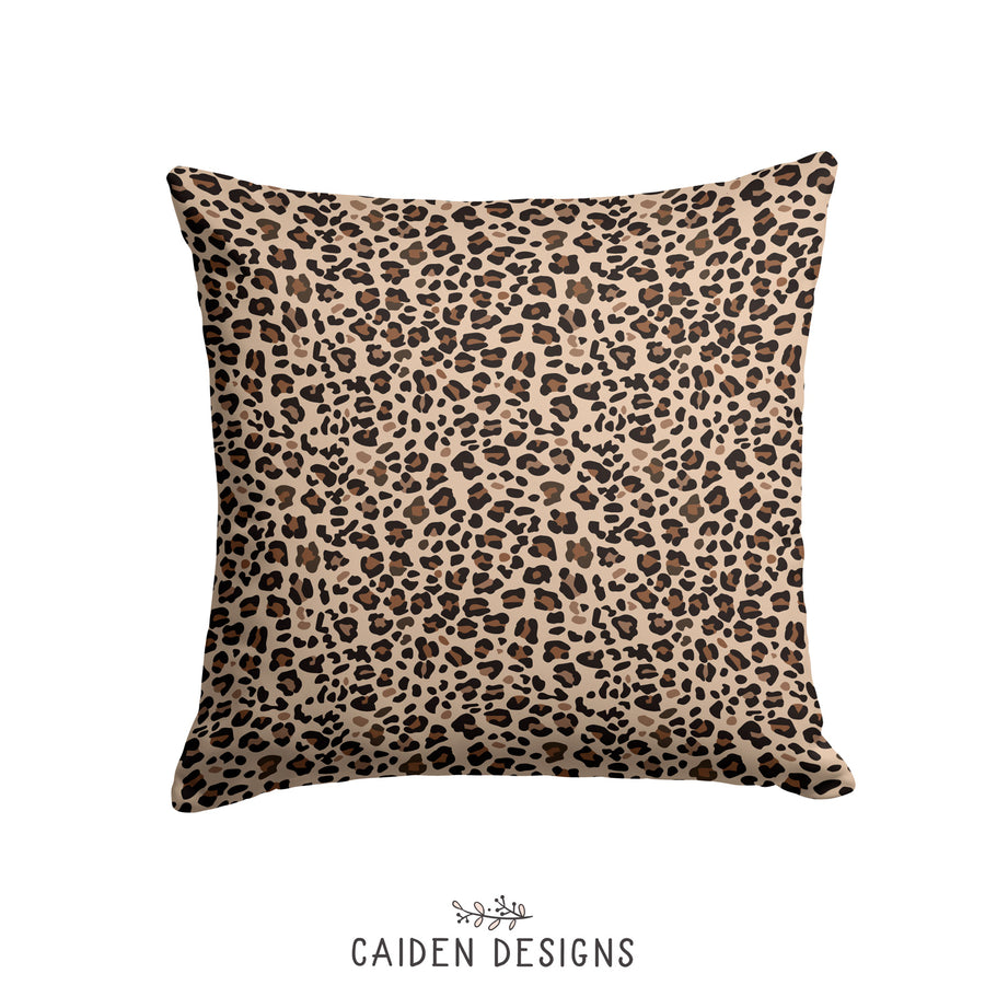 Brown Leopard Print Custom Pillow