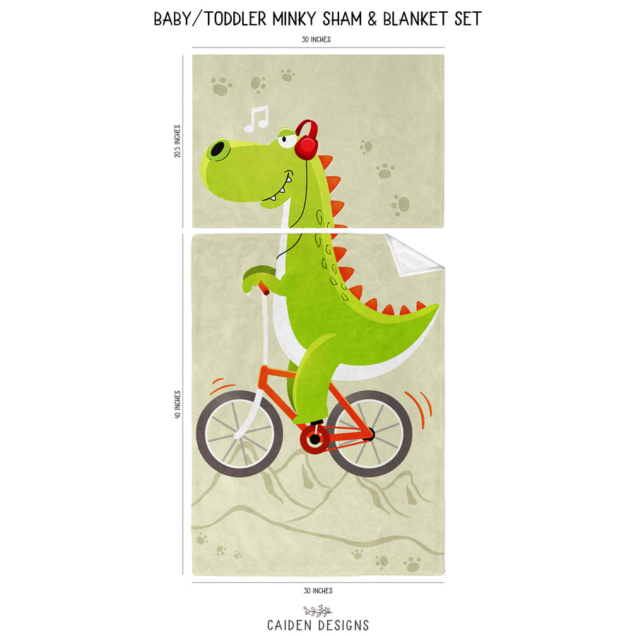 Dinosaur Personalized Blanket & Pillowcase Set