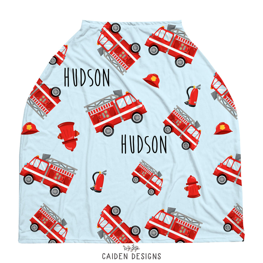 Fire Trucks Multi-Use Baby Car Seat Cover