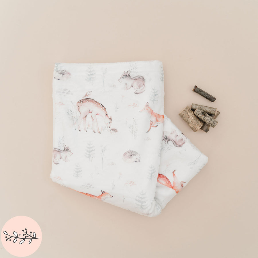 Forest Friends Personalized Throw Blanket