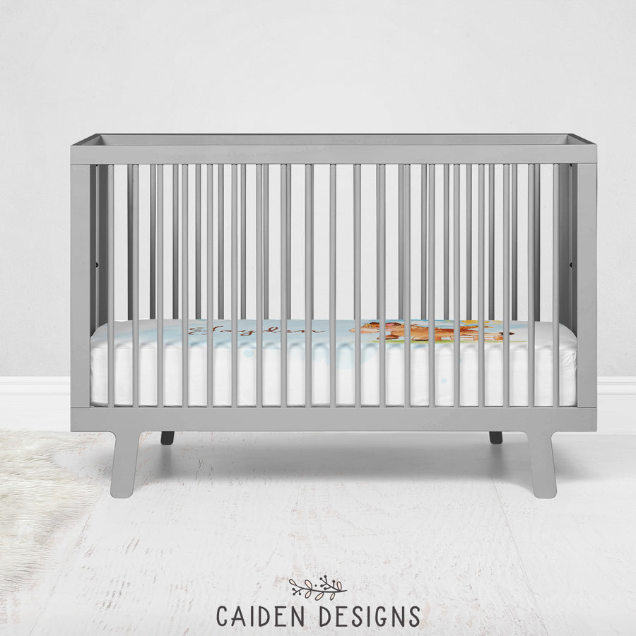 Horse Personalized Crib Sheet