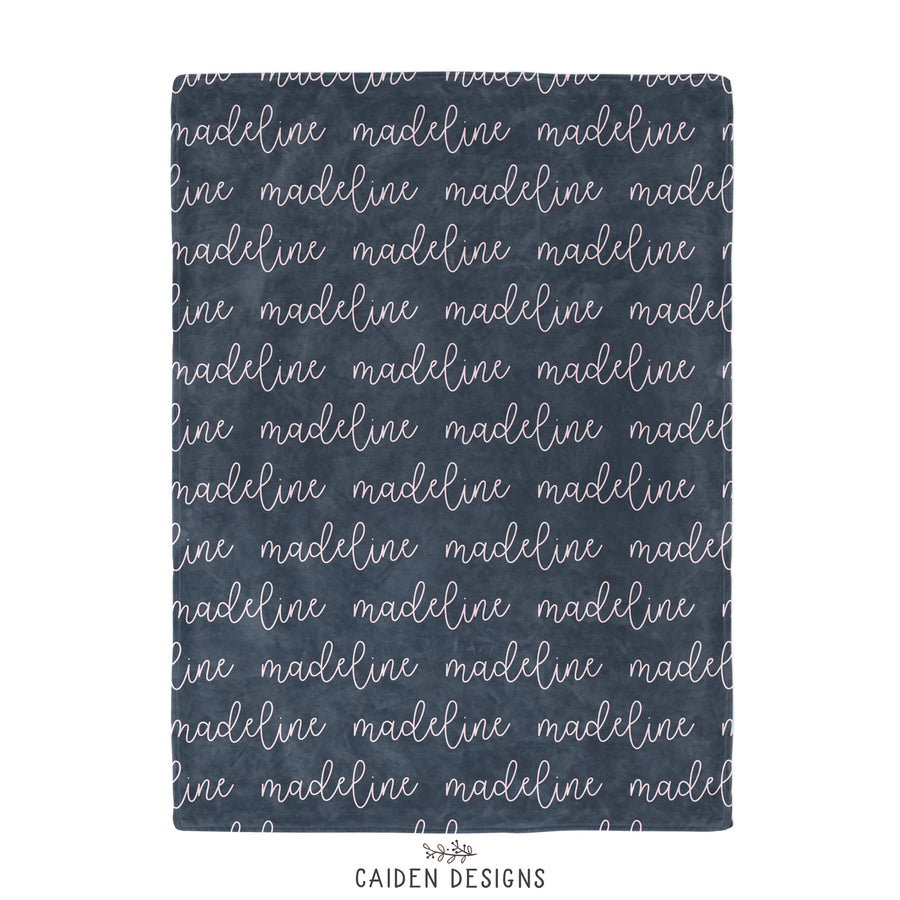 Script Personalized Name Blanket
