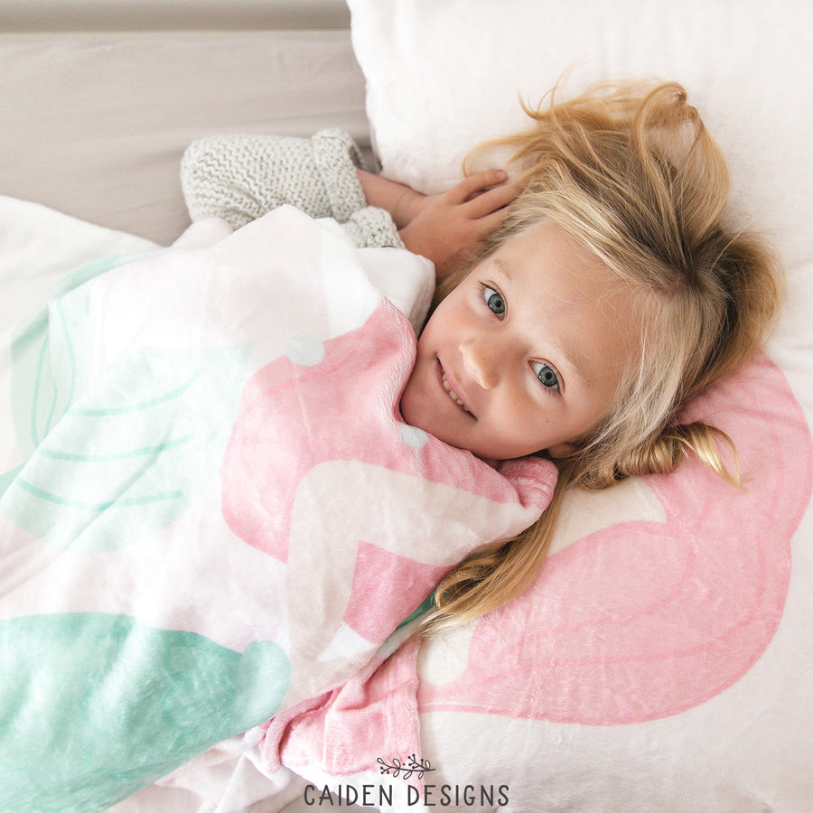 Mermaid Personalized Blanket & Pillowcase Set
