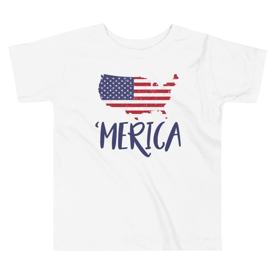USA Map 'merica Toddler T-Shirt