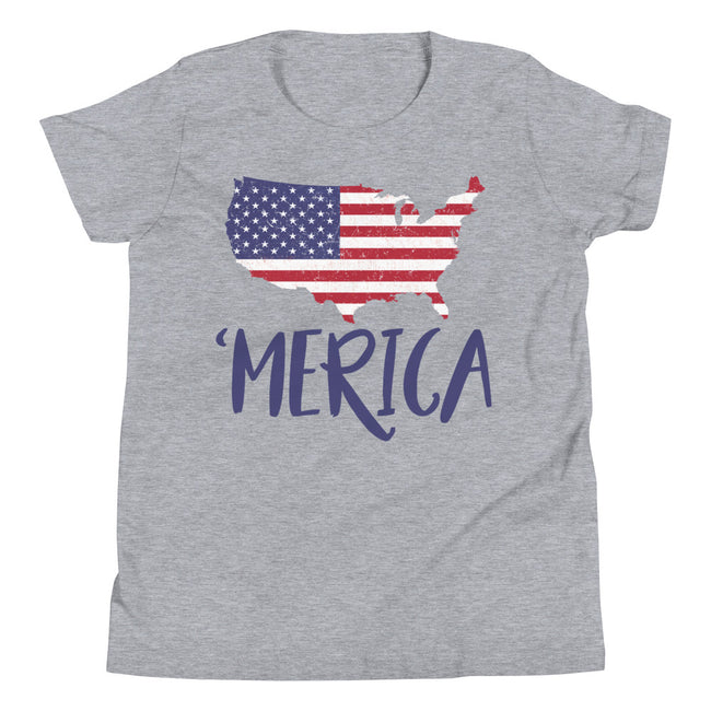 USA Map 'merica Youth Short Sleeve T-Shirt