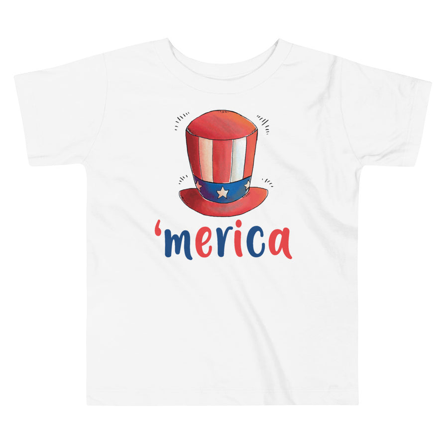 Uncle Sam Hat 'merica Toddler T-Shirt