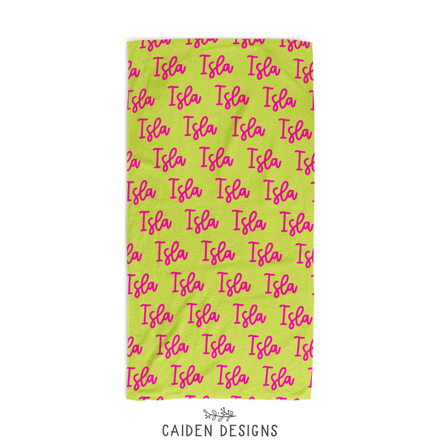 Berry Name Personalized Beach Towel