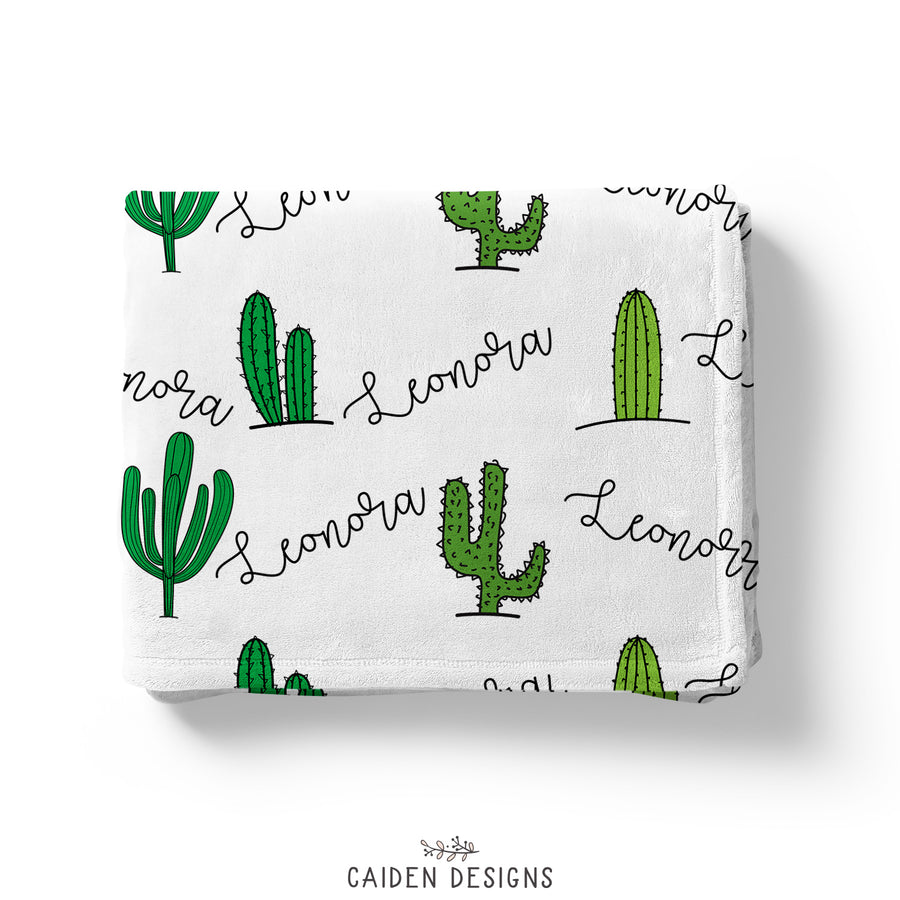Tropical Cactus Personalized Blanket