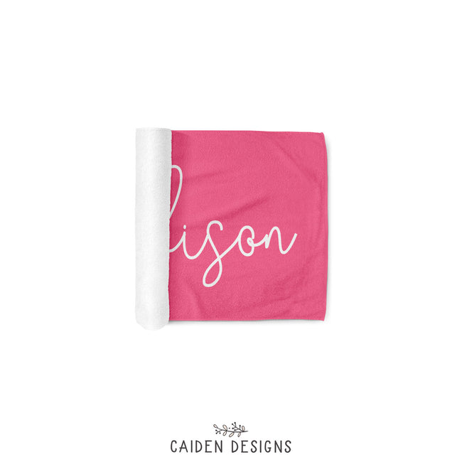 Script Name Personalized Beach Towel