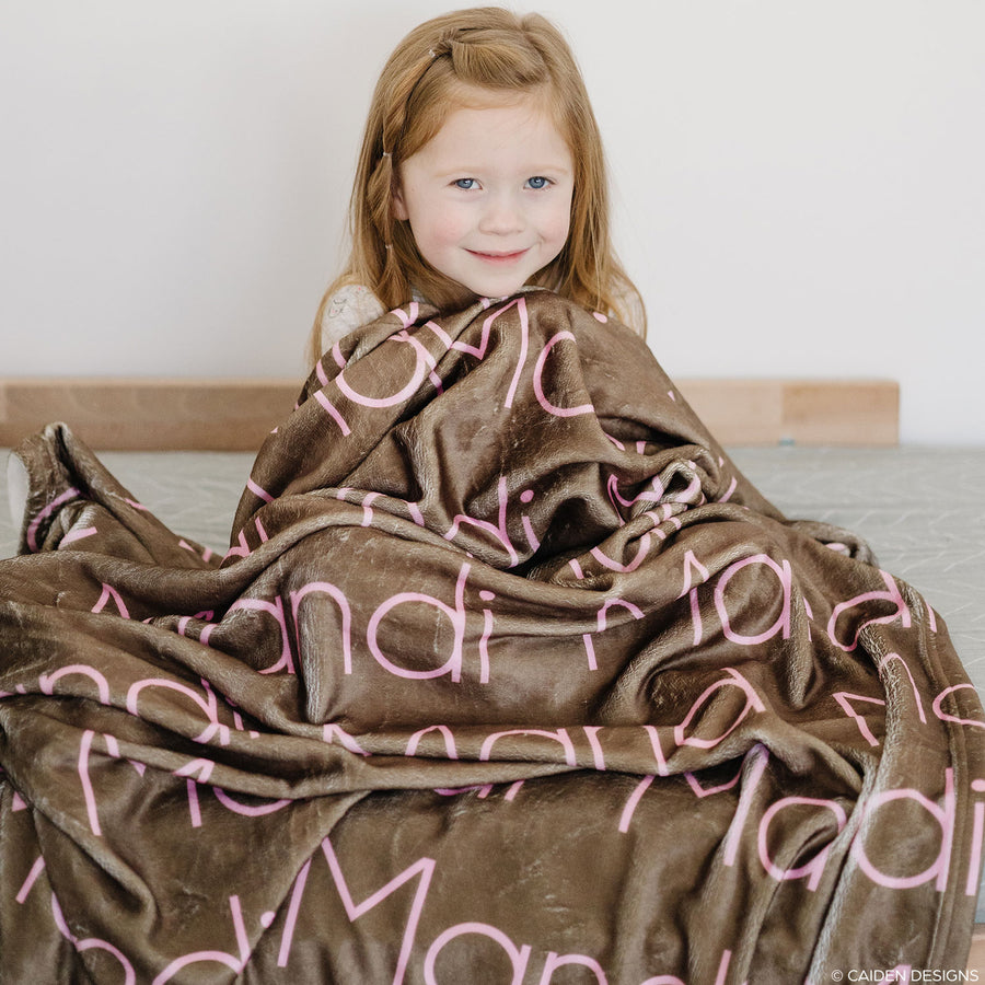 Thin Block Name Personalized Blanket