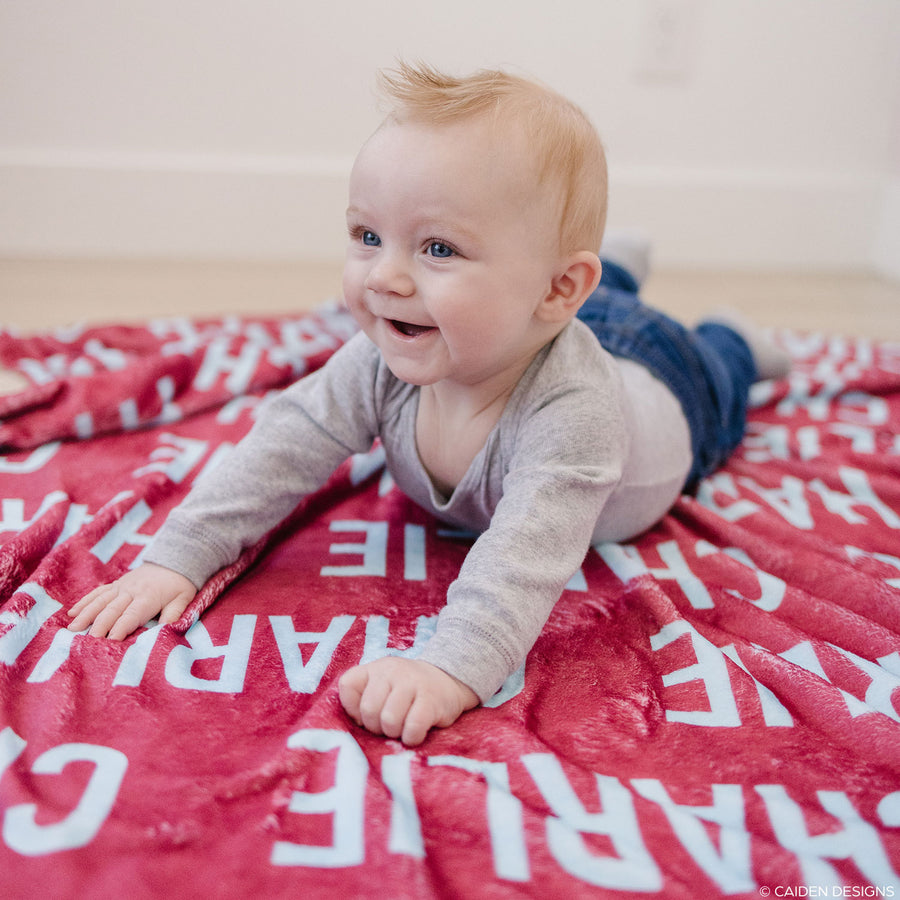 Uppercase Personalized Name Blanket