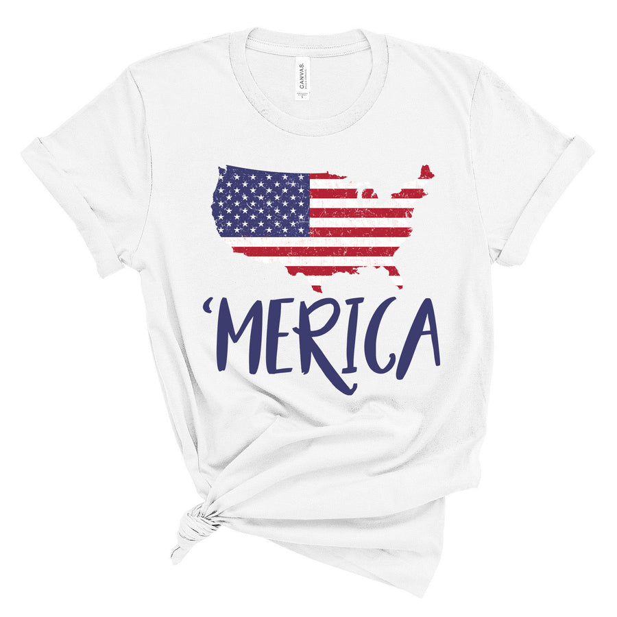USA Map 'merica Short-Sleeve Unisex T-Shirt