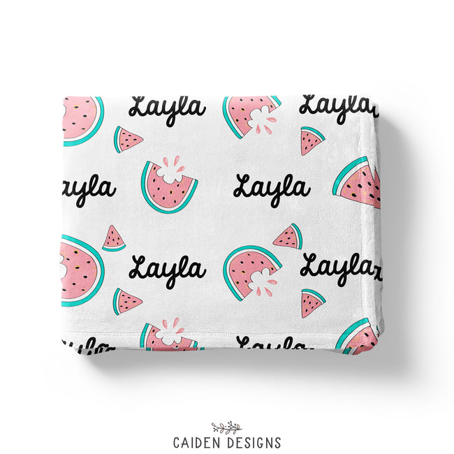 Watermelon Personalized Throw Blanket