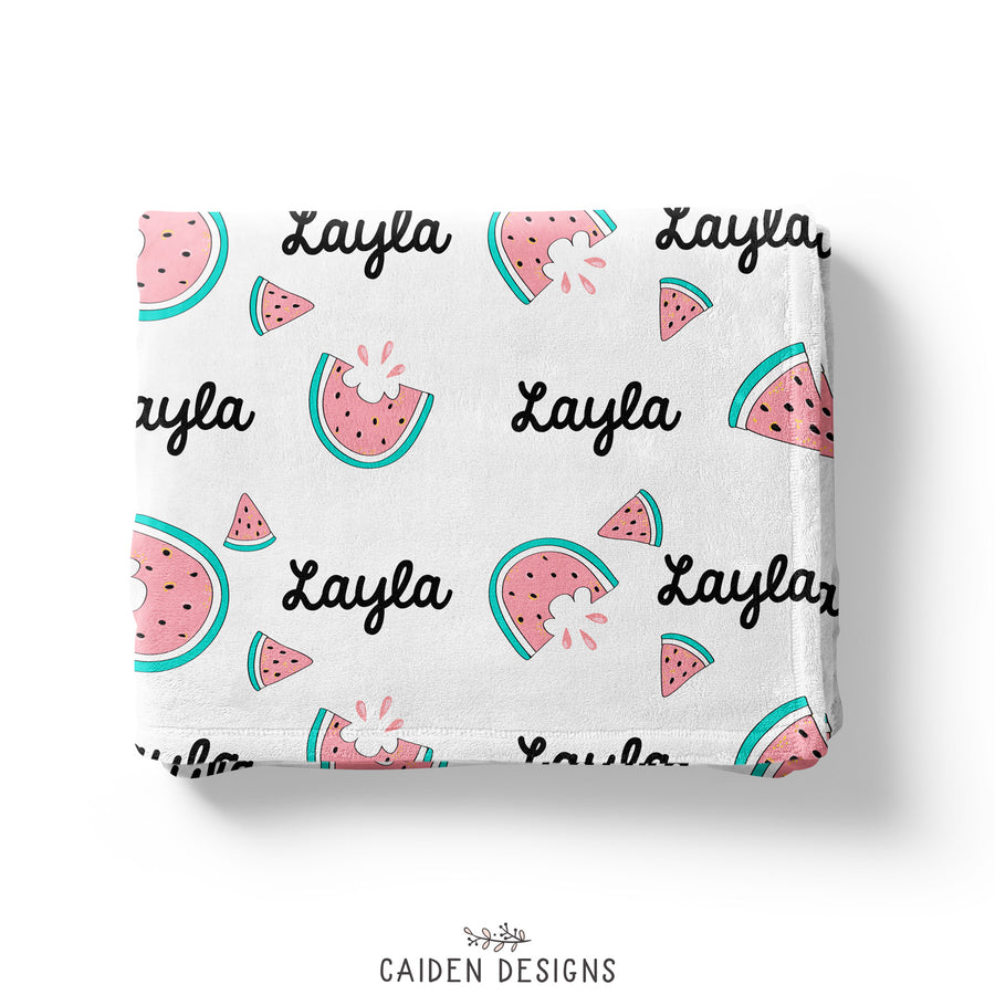 Watermelon Personalized Baby Blanket