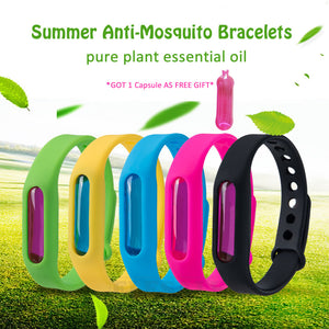 Anti-Mosquito Bracelets With Essential Oil Capsule